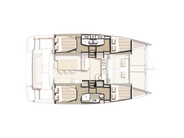 Bali 4.1 Layout 4 Cabins+3 Bathrooms