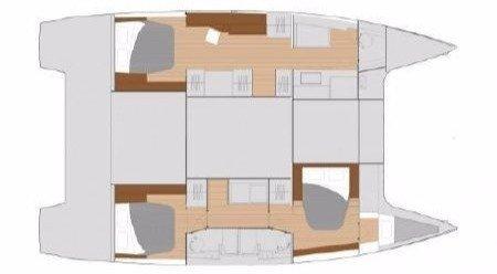 Saona 47 Layout 3 Cabins3 Bathrooms